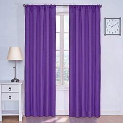Kendall Kids Blackout Window Panel in Purple - Size: 63 H x