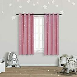 Anjee Kids Blackout Curtains  Girls Bedroom With Laser Cut O