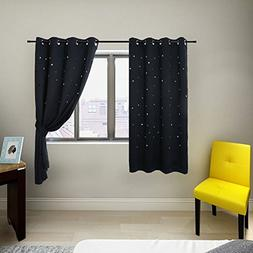 Anjee Kids Room Curtains with Die-out Stars for Bedroom by,