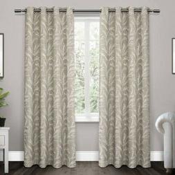 Exclusive Home Kilberry Woven Blackout Grommet Top Curtain P