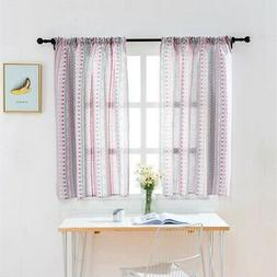 Kitchen Balcony Home Blackout Window Curtain Color Stripe Pr
