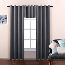 Kitchen Blackout Thermal Insulated Window Tiers Curtains Pan