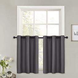 PONY DANCE Kitchen Window Valances - Blackout Curtains Tiers