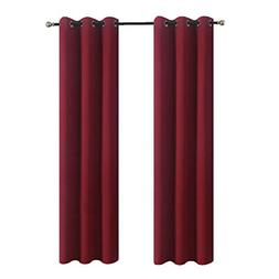 Aquazolax Kitchen Window Blackout Curtains Eyelets Blackout