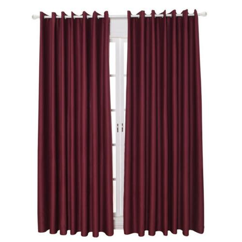 1/2/4 Blackout Room Bedroom Set Drapes Home Kit