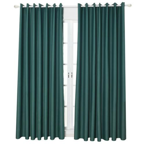 1/2/4 Panel Window Drapes Solid Kit