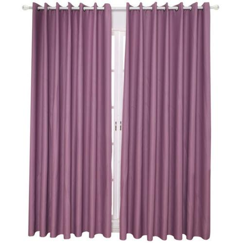 1/2/4 Panel Window Curtain Blackout Set Drapes Home Kit