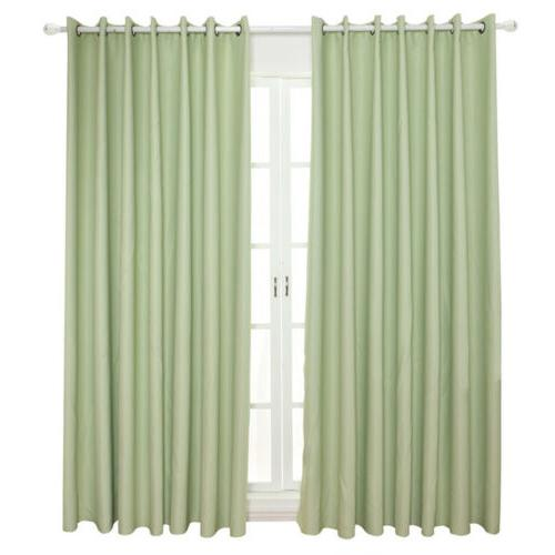 1/2/4 Curtain Blackout Drapes Solid Home Kit