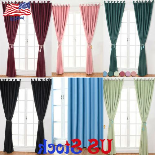 1 2 4 panel window curtain blackout