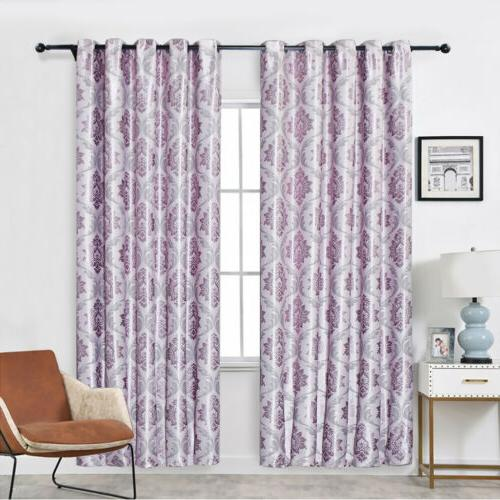 1/2/4 Panels Curtains Insulated Drapes Grommet Bedroom