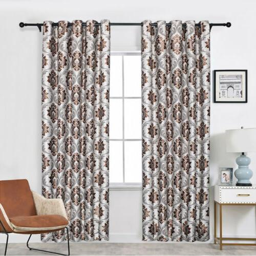 1/2/4 Panels Window Curtains Thermal Drapes Grommet