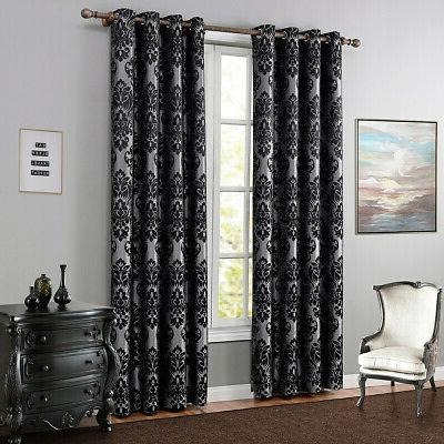 1/2pcs Floral Panels Window Curtain Thermal