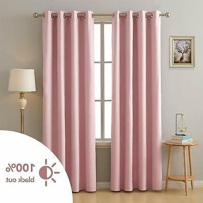 100 percent blackout curtain thermal insulated room