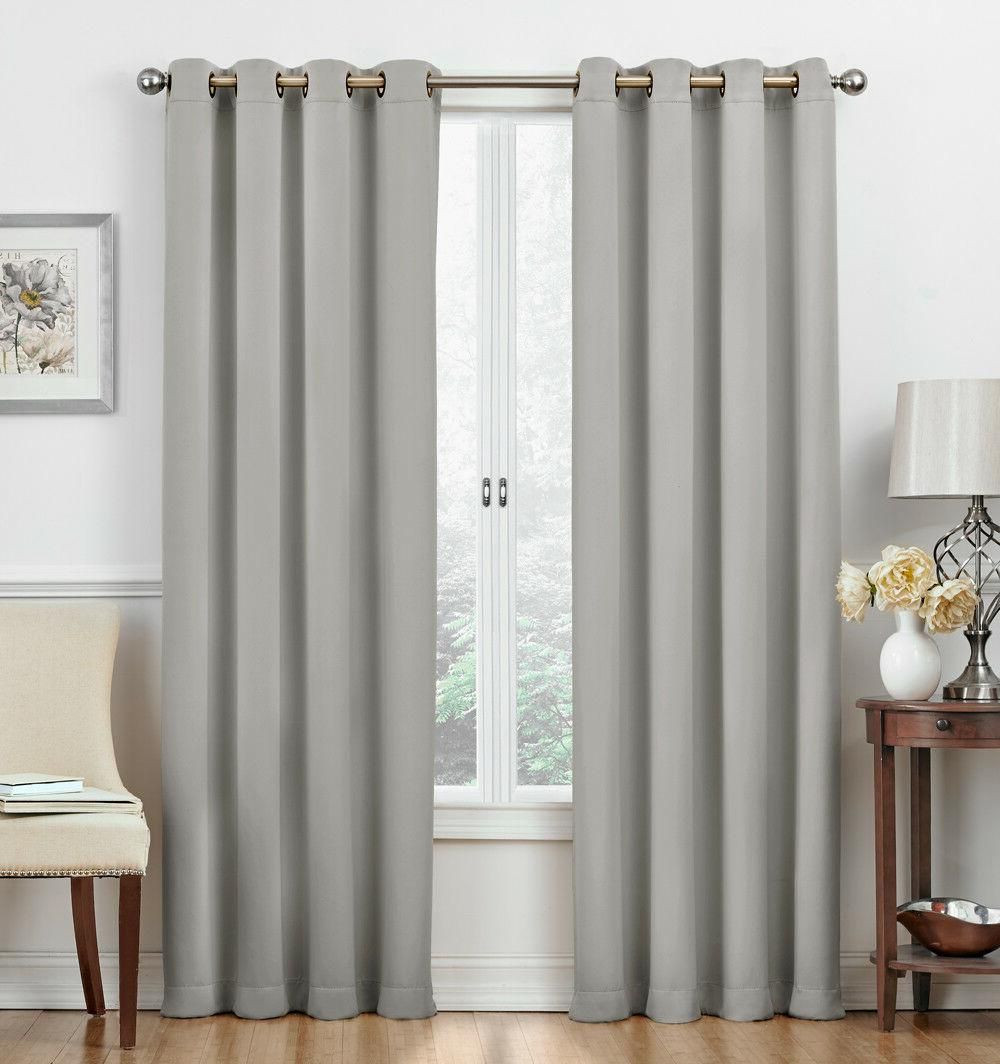 2 Pack: Hotel Thermal Grommet Curtains - Assorted Colors Sizes