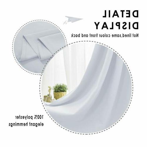 2 Panel Blackout Room Darkening Curtain Insulated