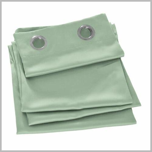 2 Room Curtain Insulated Drapes Grommet