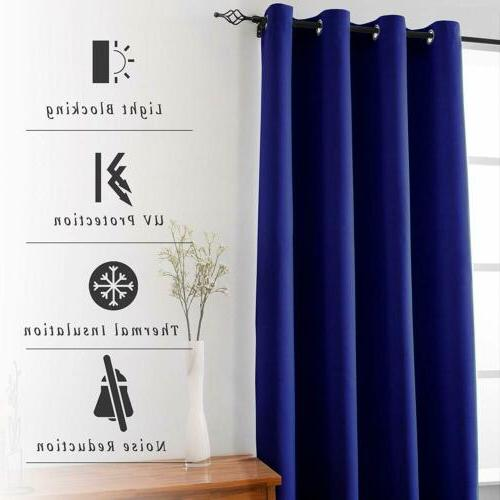 2 Panels Thermal Insulated Curtains for