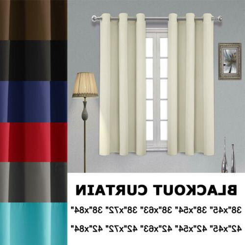 2 panels blackout curtains thermal insulated room