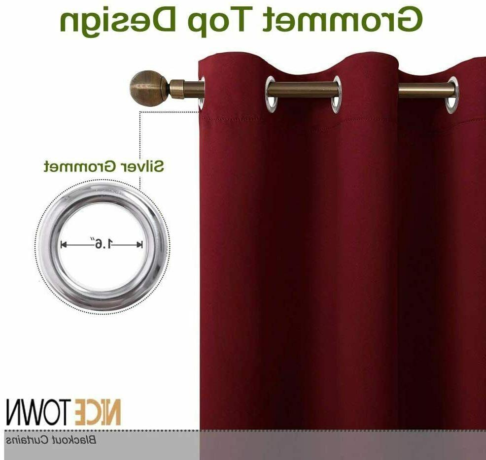 2 Curtains Darken Thermal Insulated Drapes