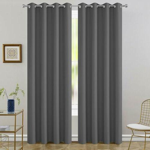 2 Blackout Curtains Insulated Drapes