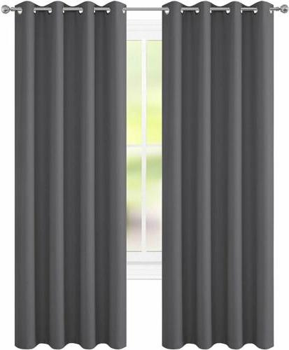 2 Curtains Room Darken Thermal Insulated