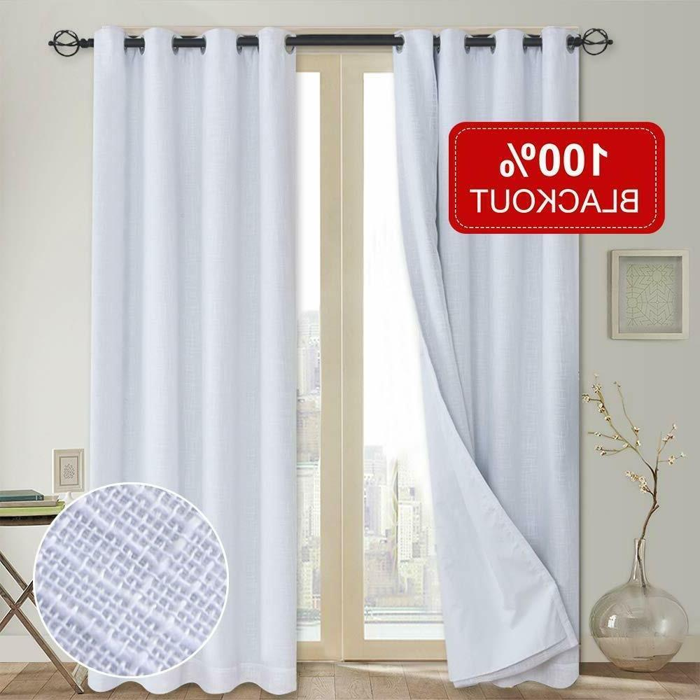 """2 Panels Blackout Window Curtains Insulated Grommet 96"""""""