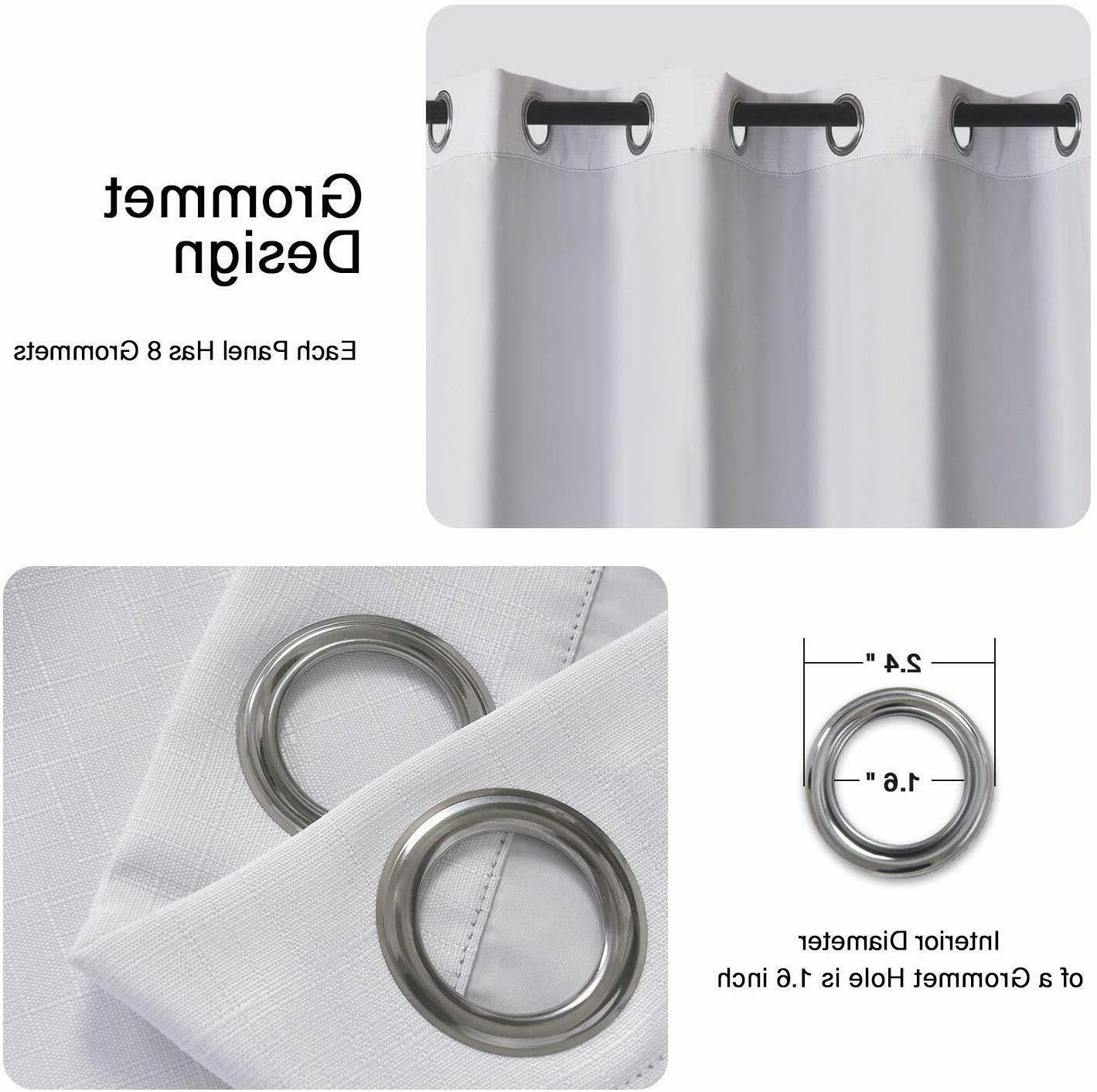 """2 Window Curtains Thermal Insulated Drapes Grommet 84"""" 96"""""""