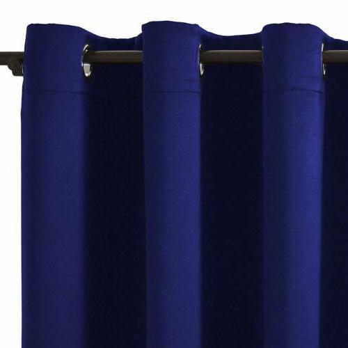 2 Thermal Blackout Curtains for Living