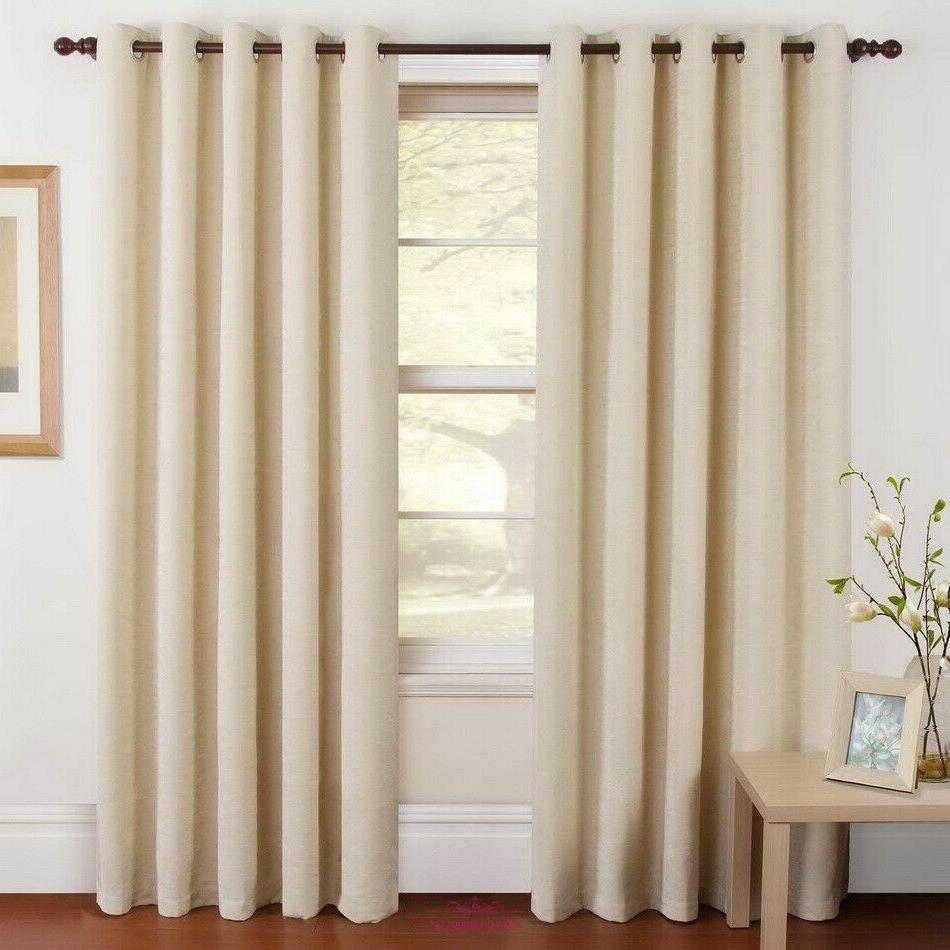 2 panels thermal insulated rod pocket blackout