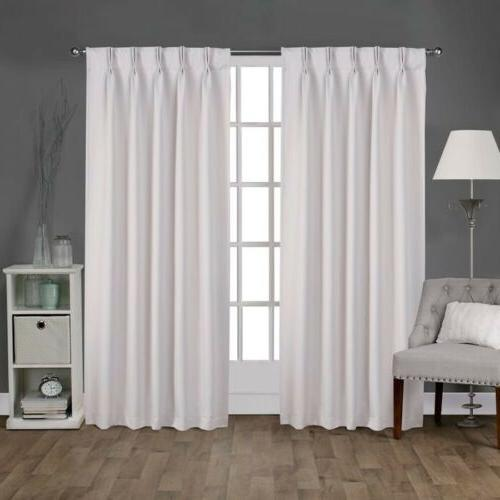 2pc home exclusive sateen pinch pleat woven