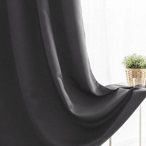 Blackout 2 Curtains Drape Set Thermal Insulated Room