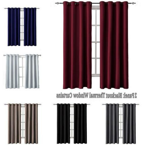 52 inch sunlight blocking blackout curtains insulated