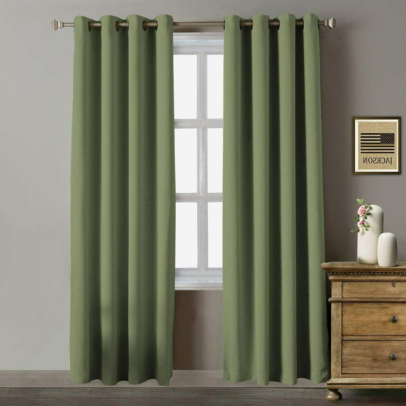 52 x 96 blackout curtains thermal insulated