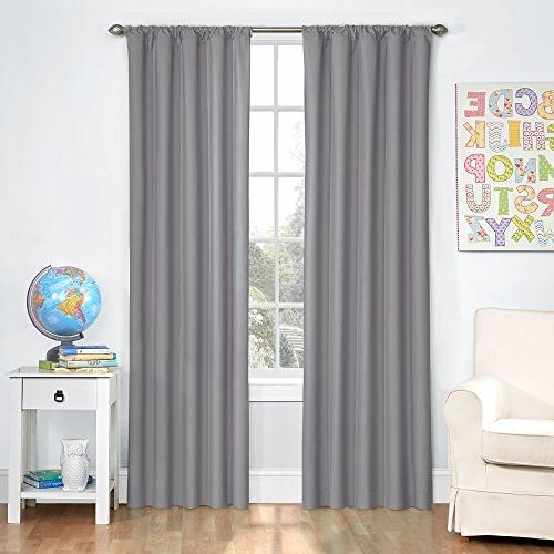 Eclipse Kids Microfiber Room Darkening Window Curtain Panel,