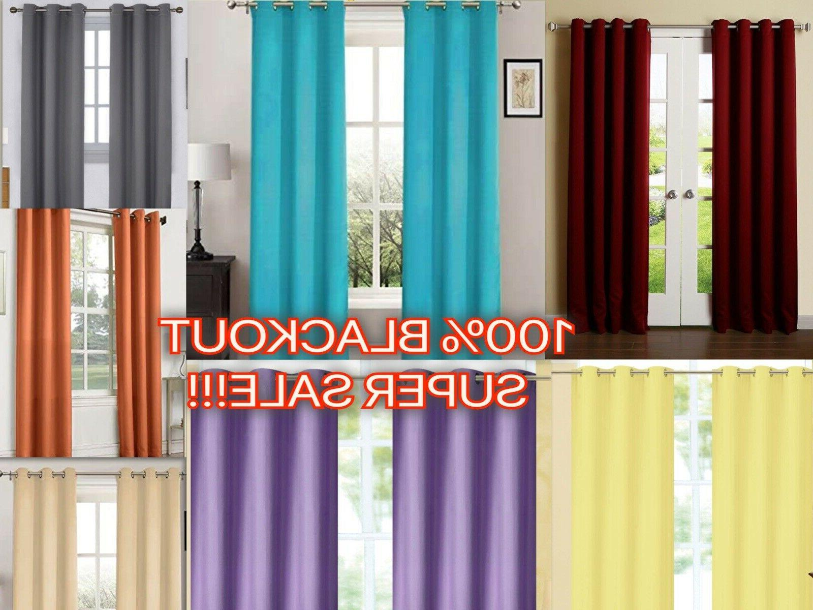 Empire Home Amber Extra Wide Thermal Blackout Window Curtain