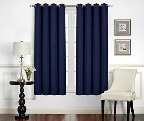 Utopia Bedding Darkening Thermal Insulating Window Curtains/Panels/Drapes Panels Set 8 Grommets per 2 Backs