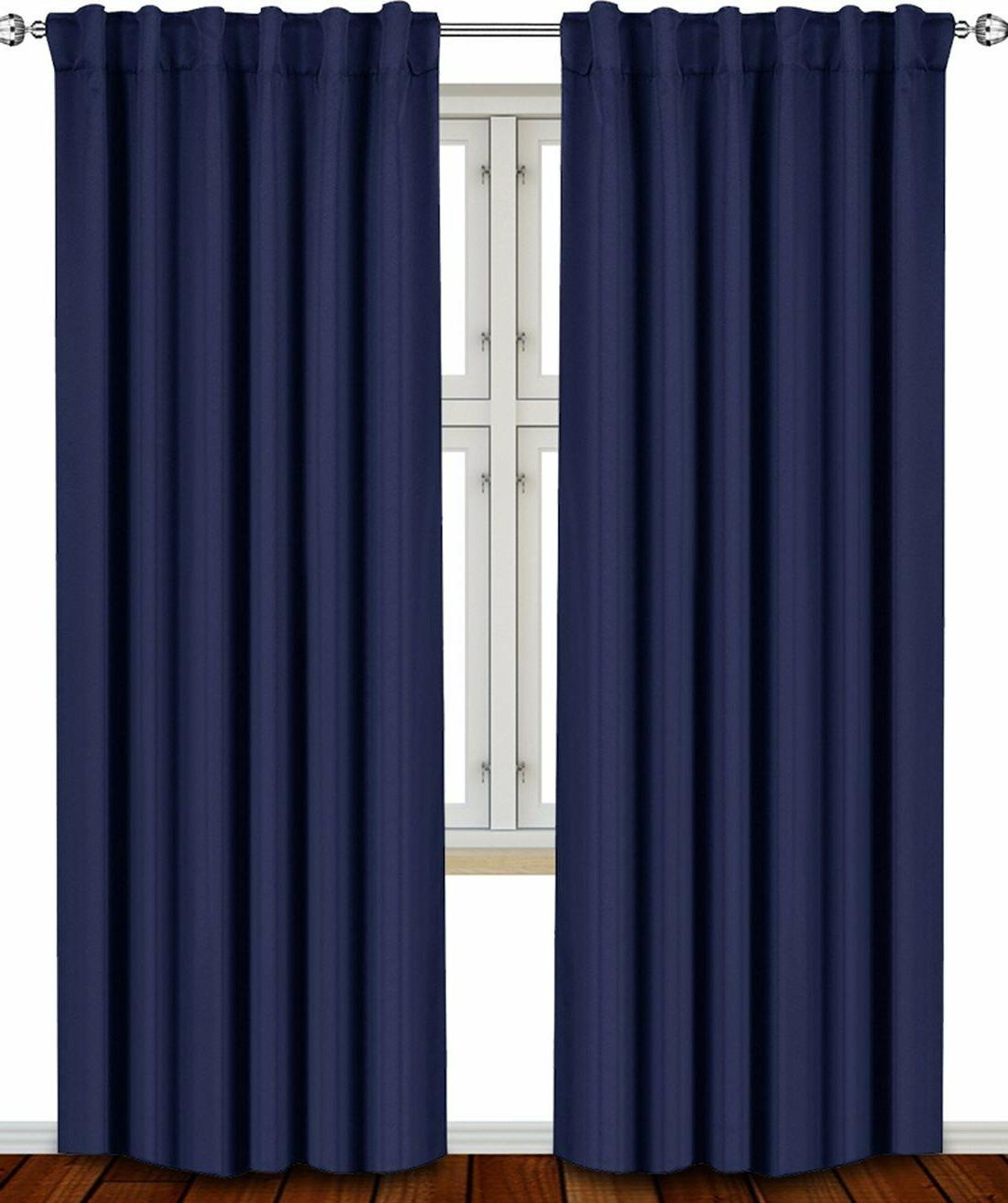 """Window Curtains Thermal Insulated 2 Panels 52x84"""" Bedding"""