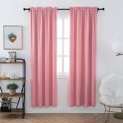 anjee plain curtains room darkening thermal insulated