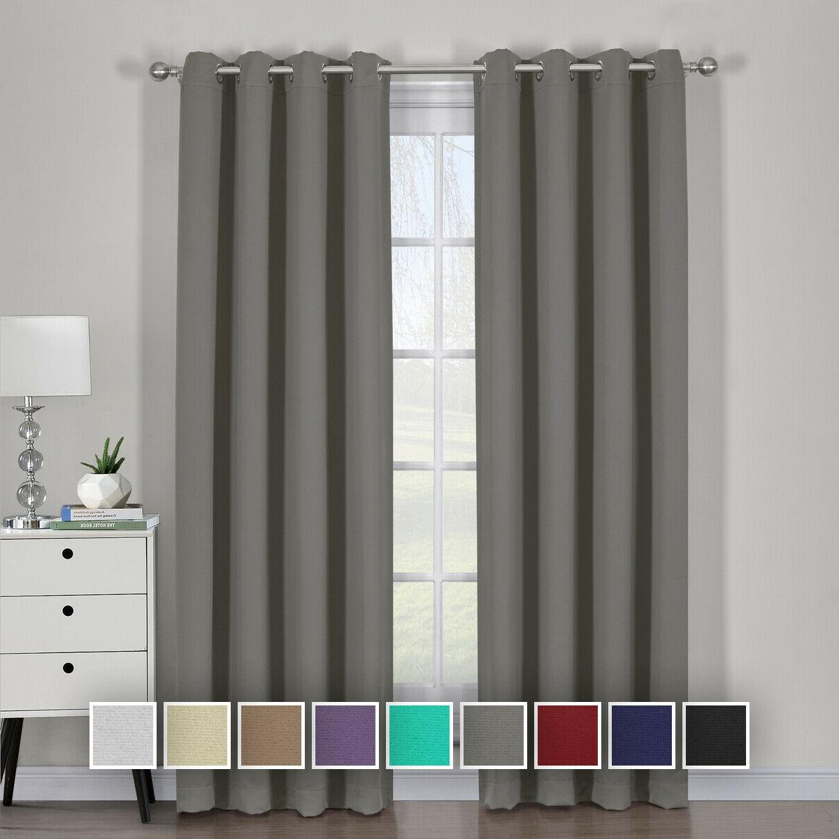 ava blackout triple weave curtains set of
