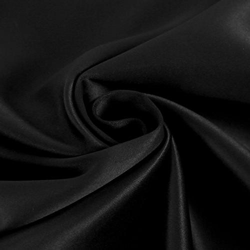 Deconovo Black 84 Inch Long Tab and Blackout Curtain Panels for Living