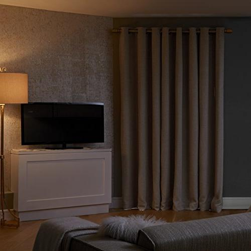 "Sun Theater Grade 100% Curtain Panel, 52"" 95"", Stone"