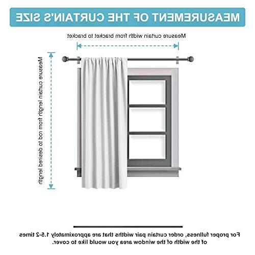 """RYB HOME Curtain Shades Panels Drapes for Cafe, with Back Tab Pocket Sunlight Protection Heat Curtains for x 54"""", Pcs"""