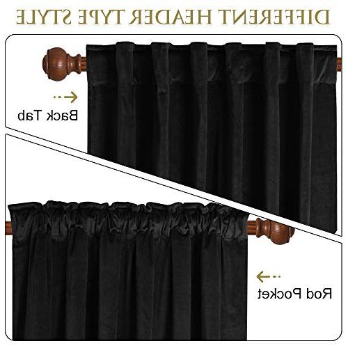 """Blackout Thermal Insulated Curtains Decor Drapes Coverings Home Theater/Front Sliding Door, x 108"""" 2"""