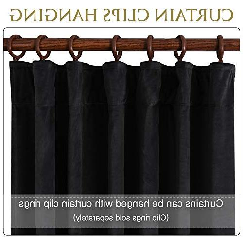 """Blackout Thermal Curtains Decor Thick Drapes Coverings for Sliding x 108"""" Each 2"""
