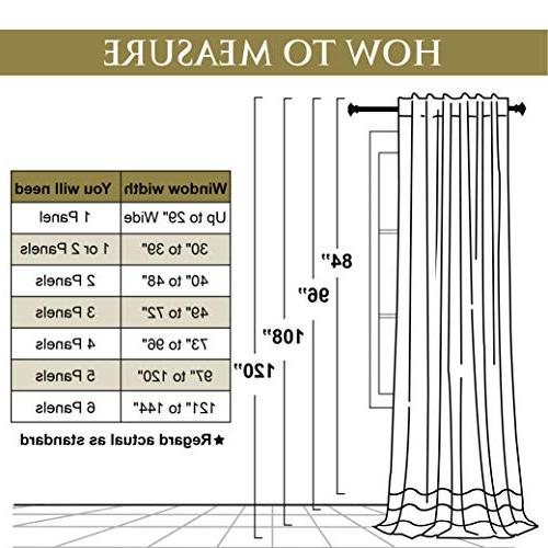 Blackout Thermal Velvet Curtains - Stylish Decor Thick Drapes Noise Absorbing Window Coverings for Sliding Door, x Each 2
