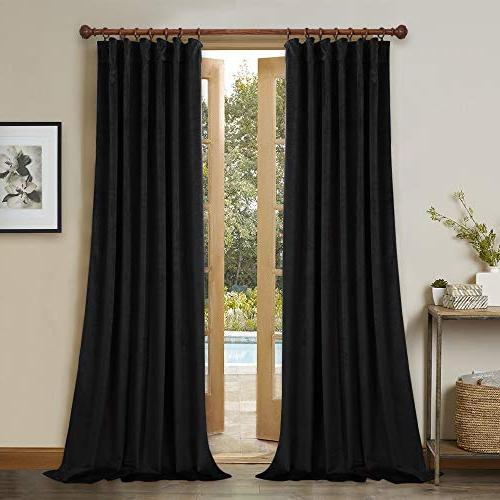 blackout thermal insulated velvet curtains