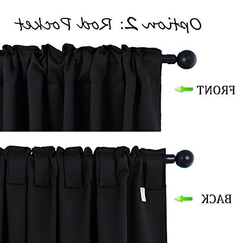 NICETOWN Black Out Curtain Panels for Bedroom W52 Pair, Thermal Draperies