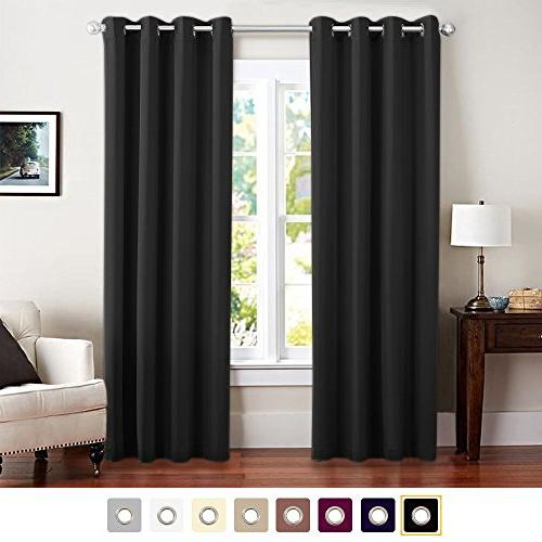 black blackout curtains room darkening