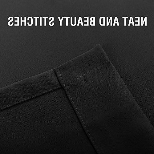 Blackout Curtains Room inches Bedroom Curtains Triple Darkening Insulated Top Black