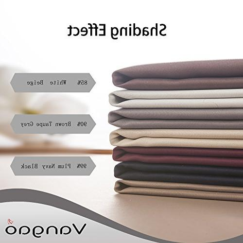 Vangao Blackout Room Darkening Draperies Thermal Insulated Grommet Drapes/panels for Bedroom/Living W52xL95 Inch